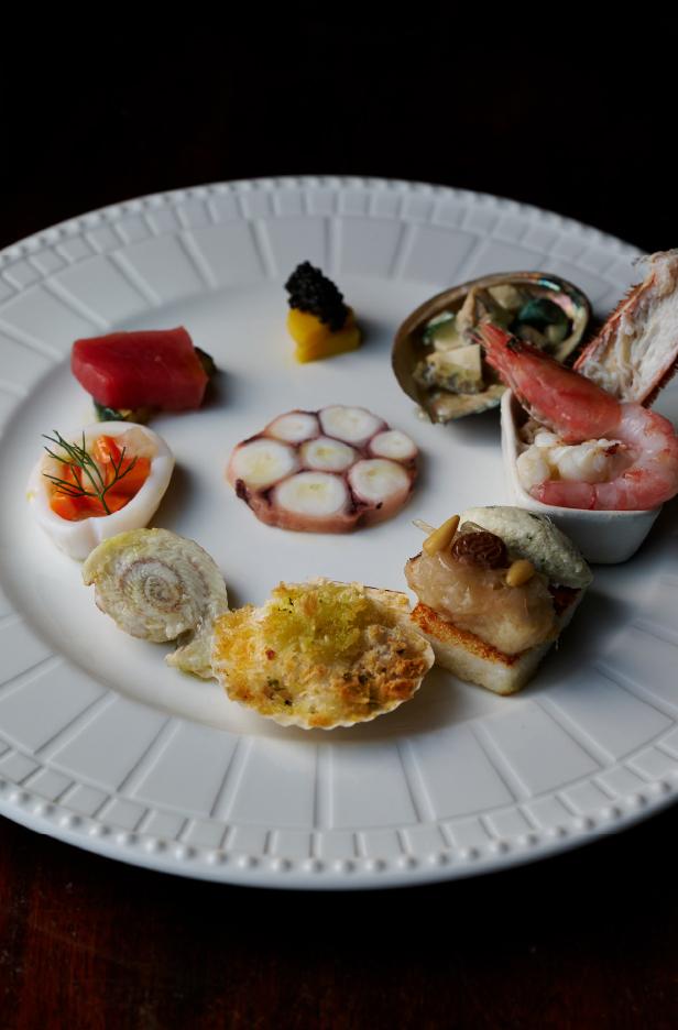 ヴェネツィア風魚介の前菜盛り合わせ