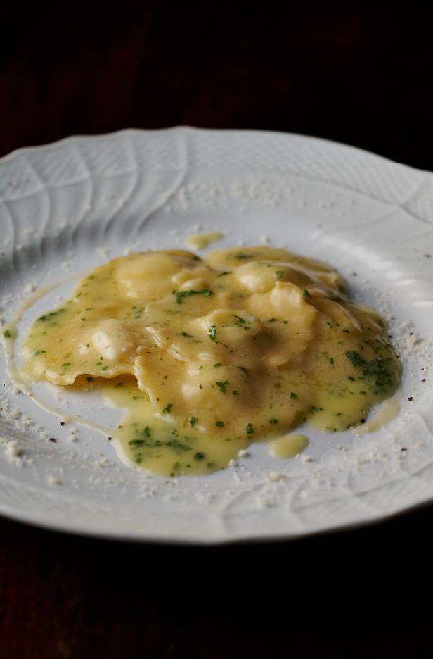 ポレンタとタレッジョチーズのラヴィオリ